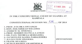 Legality of Anti Homosexuality Act challenged in Constitutional Court by an unprecedented coalition of petitioners; Injunction against enforcement sought