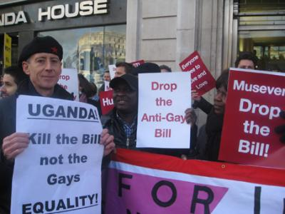 London protesters demand Uganda drops 'Kill The Gays' bill